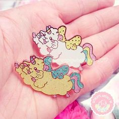 Kawaii Enamel Pin - Guinea pig Unicorn with Glitter Handmade Shop, Etsy Handmade, Handmade Gifts, Gifts For Teens, Gifts For Her, Animal Magic, Animal Illustrations, Support Local, Aesthetic Colors