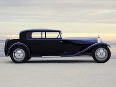 1931 Bugatti Royale Kellner Coupe, which sold at a whopping 9.7 million in 1987 in a Christie's Albert Hall auction. (It may be worth double that today.) The car boasts of a 12.7-liter aircraft engine. Only six were built, which makes it truly rare.