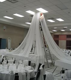 How To Hang Gossamer | How to Hang Ceiling Draping