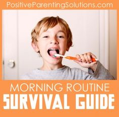 """Create a """"when-then"""" routine, and don't forget to encourage your child when he completes the routine on time. """"Thank you so much for doing all your steps before 7 this morning! Now we can eat breakfast together."""" Or, """"Thanks for getting ready on time today. Now we have some extra time to play before you leave for school."""" This encouragement, along with the responsibility of completing her own routine, will give your child a sense of independence and accomplishment."""
