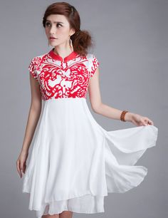 Modern Chinese Qipao Dress: Chinese Paper Cut $84.50 (63,66 €)