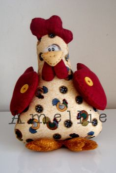 Sewing Toys, Sewing Crafts, Sewing Projects, Small Projects Ideas, Projects To Try, Country Chicken, Chicken Crafts, Country Crafts, Coq