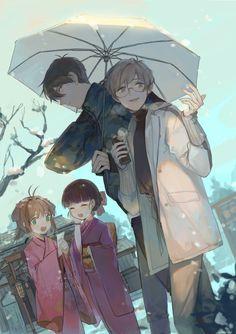 Sakura, Tomoyo, Touya, and Yukito