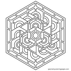 geometric coloring pages | geometric design 23 coloring page ... - Coloring Pages Patterns Geometric