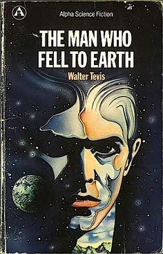 The Man Who Fell to Earth by Walter Tevis, 1963. T.J. Newton, an extraterrestrial on a mission to save his home planet, crash lands on earth, where he is condemned to a life of loneliness as he tries to build another spaceship.