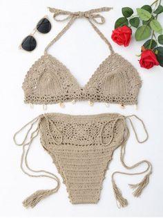 GET $50 NOW | Join RoseGal: Get YOUR $50 NOW!https://www.rosegal.com/bikinis/halter-crochet-tied-bikini-set-1252532.html?seid=4514413rg1252532