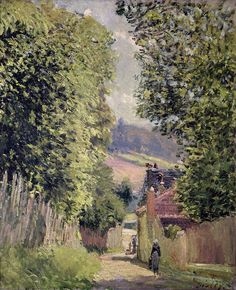 A Road In Louveciennes Painting  - A Road In Louveciennes Fine Art Print