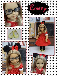 Emery - a Mickey Mouse fan  custom American Girl doll