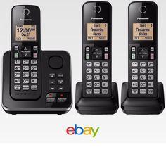 Panasonic Kx Tg633Sk Cordless 3 Handset Landline Telephone W Answering Machine