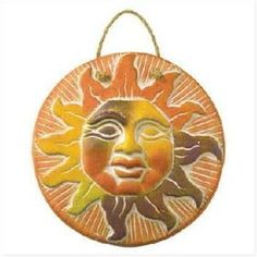 Looking for the perfect terracotta sun decor for your garden or home? Terracotta (in Italian meaning Baked Earth) is clay-based unglazed ceramic.Clay terra cotta has been used throughout history for sculpture and. Dark House, Sun Moon Stars, Sun Art, High School Art, Slab Pottery, Celtic Knot, Wall Plaques, Terracotta, Mandala