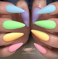 Best Easter Nail Art for 2019 includes bright bunny nails, cute egg nails, polka dot nails are some of the most talked about Nail Art Designs for Easter. Best Acrylic Nails, Acrylic Nail Designs, Nail Art Designs, Nails Design, Easter Nail Designs, Easter Nail Art, Easter Color Nails, Multicolored Nails, Colorful Nail
