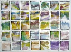 Barbara Newton - 35 colour thumbnails of colour compositions based on photos.