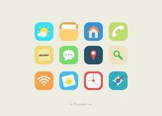 Flat vector icons collection