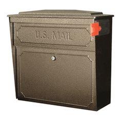 Downtown Locking Mailbox - Wall mount, large capacity locking security mailbox