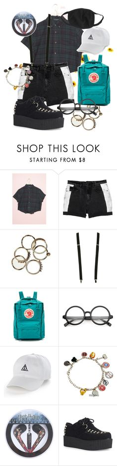 """Untitled #430"" by diana-littlefield ❤ liked on Polyvore featuring Monki, Wet Seal, Fjällräven, ZeroUV, Marvel Comics and Hot Topic"