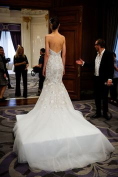 Marchesa. See more dresses from Bridal Fashion Week that are just GORGEOUS from the back.
