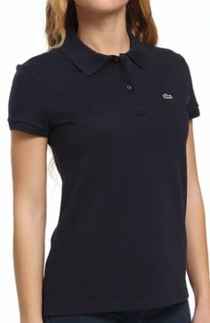 SHORT SLEEVE 2 BUTTON STRETCH PIQUE POLO 6  SMALL  EUR 38 NAVY BLUE -- Click image for more details.