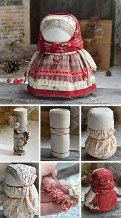 How to make fabric doll a'la Russe. Click on image to see step-by-step tutorial