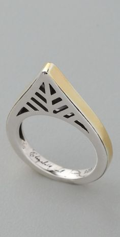 Ring | Elizabeth and James Design. Sterling silver with 22k gold plating at the edges