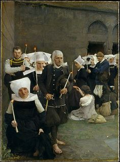 The Pardon in Brittany . Pascal-Adolphe-Jean Dagnan Bouveret