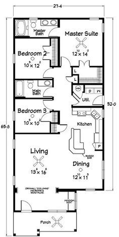 Floor Plans :: Southern Dream Home Builders - Custom Modular Homes - Jonesborough TN Modular Floor Plans, Small House Floor Plans, Bungalow House Plans, Shotgun House Floor Plans, The Plan, How To Plan, Dream Home Builder, Modular Home Manufacturers, Casa Loft