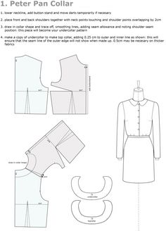 Pattern Drafting: Peter Pan Collar | Sewing,smocking,embroidery......…