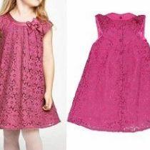 Vestido infantil con escote drapeado Short Niña, Dress Anak, Baby Dress Patterns, Diy Clothes, Kids Fashion, Short Sleeve Dresses, Summer Dresses, Crochet, Skirts