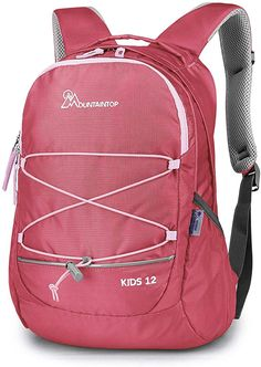 Student Backpacks College School Book Bag Travel Hiking Camping Daypack for boy for Girl Printing of Small Floral and Large Strawberry 16.1x11x6 Holds 15.4-inch Laptop