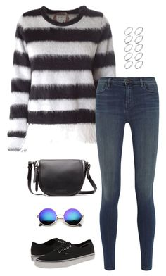"""""""Untitled #3115"""" by meandelstyle ❤ liked on Polyvore featuring N°21, J Brand, Vans, Burberry, Revo and ASOS"""