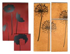 Silhouette Flower Canvas