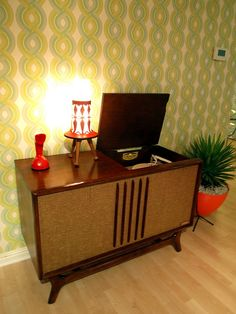 Hi Fi (high fidelity record player) mid-century modern gorgeousness! This was mine