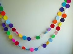 candy party garland