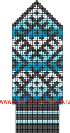 Северные узоры для вязания варежек