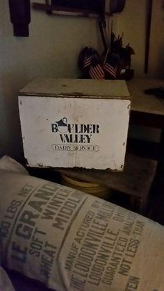 Old milk box