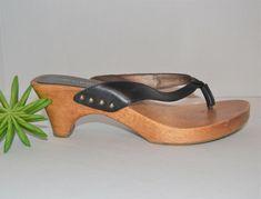 Vintage Trends, Have Metal, Vintage Shoes, Rockabilly, Leather Sandals, Clogs, Black Leather, Candy