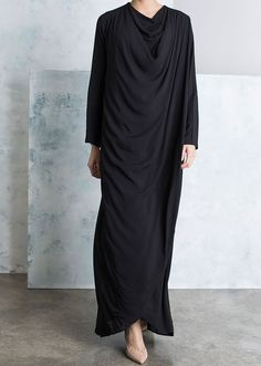 <p><span>A beautifully made Cowl Wrap Abaya with elegant draped folds across the front. Includes a modest fit around the body with semi fitted sleeves. Model wears with Lavender Infusion Chiffon Silk Hijab. A stylish Abaya with modern cuts.</span></p>