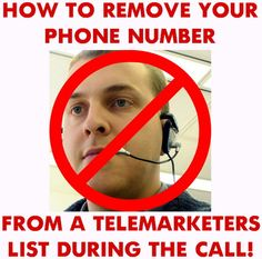 how to never be called by a telemarketer again