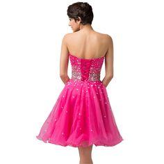 e7c76c5ebcb sizes 2-16 hot pink   light pink Cocktail Dresses Grace Karin Vestido De  Gala