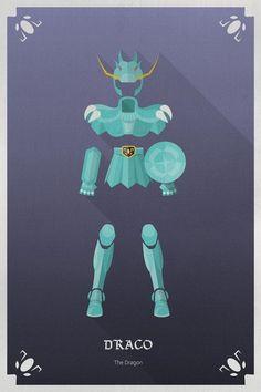 Draco's Cloth - by Olivier Magermans Dragon Armor, Dragon Ball, Comic Anime, Manga Anime, Anime Saint, Big Heroes, Knights Of The Zodiac, Gandalf, Asgard