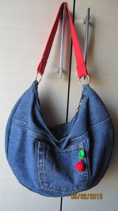 recycled jeans bag                                                       …
