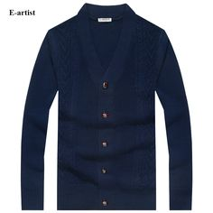 E-artist Mens Wool Knitted Sweaters Male Autumn Winter Cardigans Button Knitwear Slim Fit Casual Sweater Coats Plus Size Casual Sweaters, Girls Sweaters, Sweaters For Women, Cardigans, Sweater Coats, Sweater Outfits, Men Sweater, Winter Cardigan, Knit Cardigan