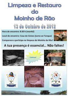 Limpeza e de restauro do Moinho de Rão   > Sábado, 13 de Outubro, 2012 - 8h30   @ Viadal, Cepelos