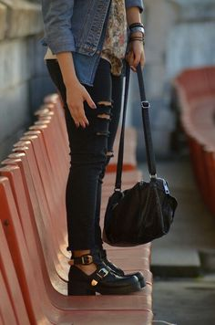 New Look cut off boots + ripped jeans