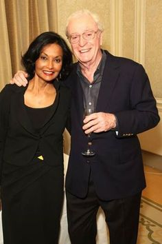 Famous actor Michael Caine (England) has been married to his wife Shakira (Guyana) for 41 years! #Interracialcouple