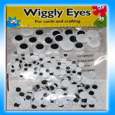 WIGGLY GOOGLY WIGGLE GOOGLE EYES FUN 250 MIXED SIZES CARDS & CRAFT JUST GLUE ON #GreatExpressions