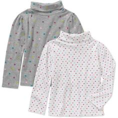 Garanimals Toddler Girl 2 Pc Printed Turtleneck Set, Size: 25 Months, White