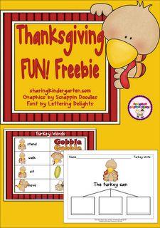 Classroom Freebies: Turkey Time!