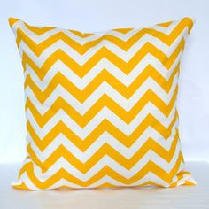 Chevron Pillow 18x18 Yellow now featured on Fab.