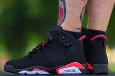 "Air Jordan 6 ""Black Infrared"" Retro 2014 On Feet Images 