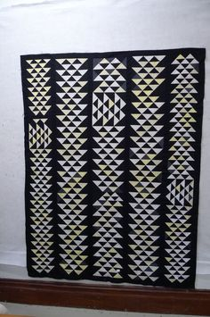Triangles, a quilt by Deirdre from a class at Material Obsession